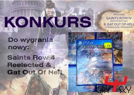 Wygraj grę na PS4 Saints Row 4 Reelected & Gat Out Of Hell
